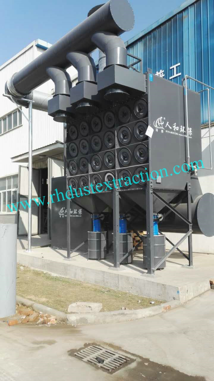1 4-48 downflow dust collector for polish industry