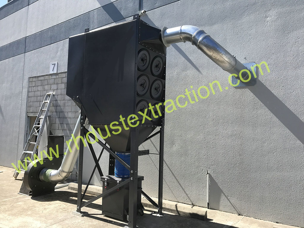 Downflow dust collector 3-12